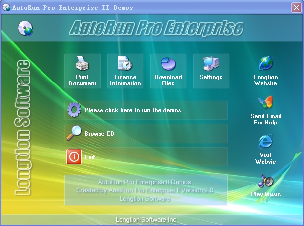 Longtion autorun pro enterprise ii for Autoplay menu builder templates